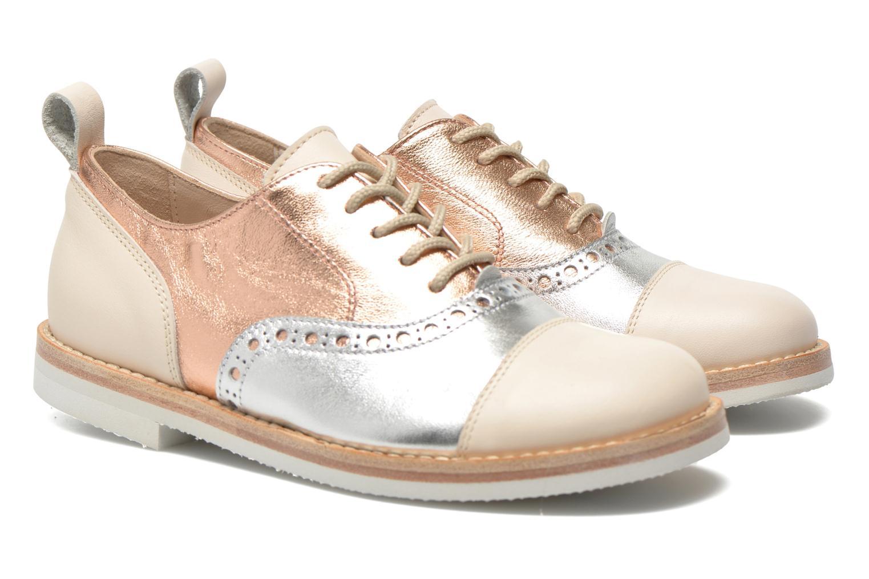 Lace-up shoes PèPè Alexandra Silver 3/4 view