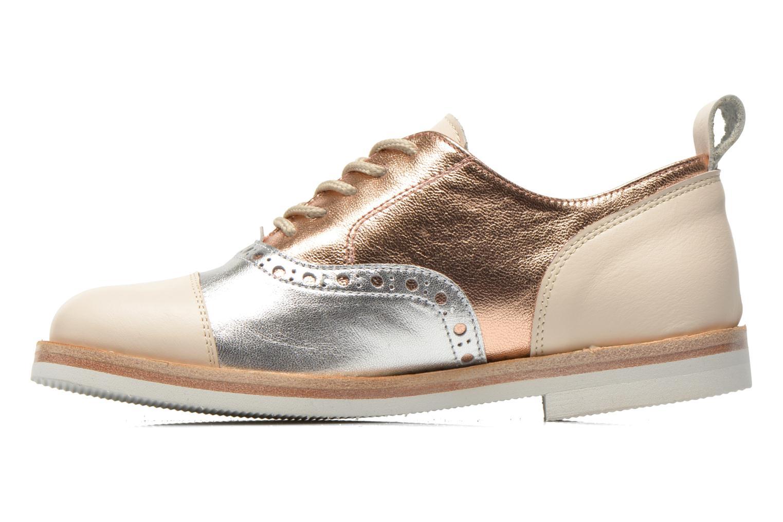 Lace-up shoes PèPè Alexandra Silver front view