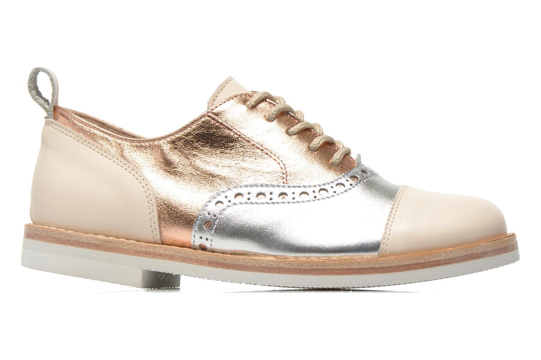 Lace-up shoes PèPè Alexandra Silver back view