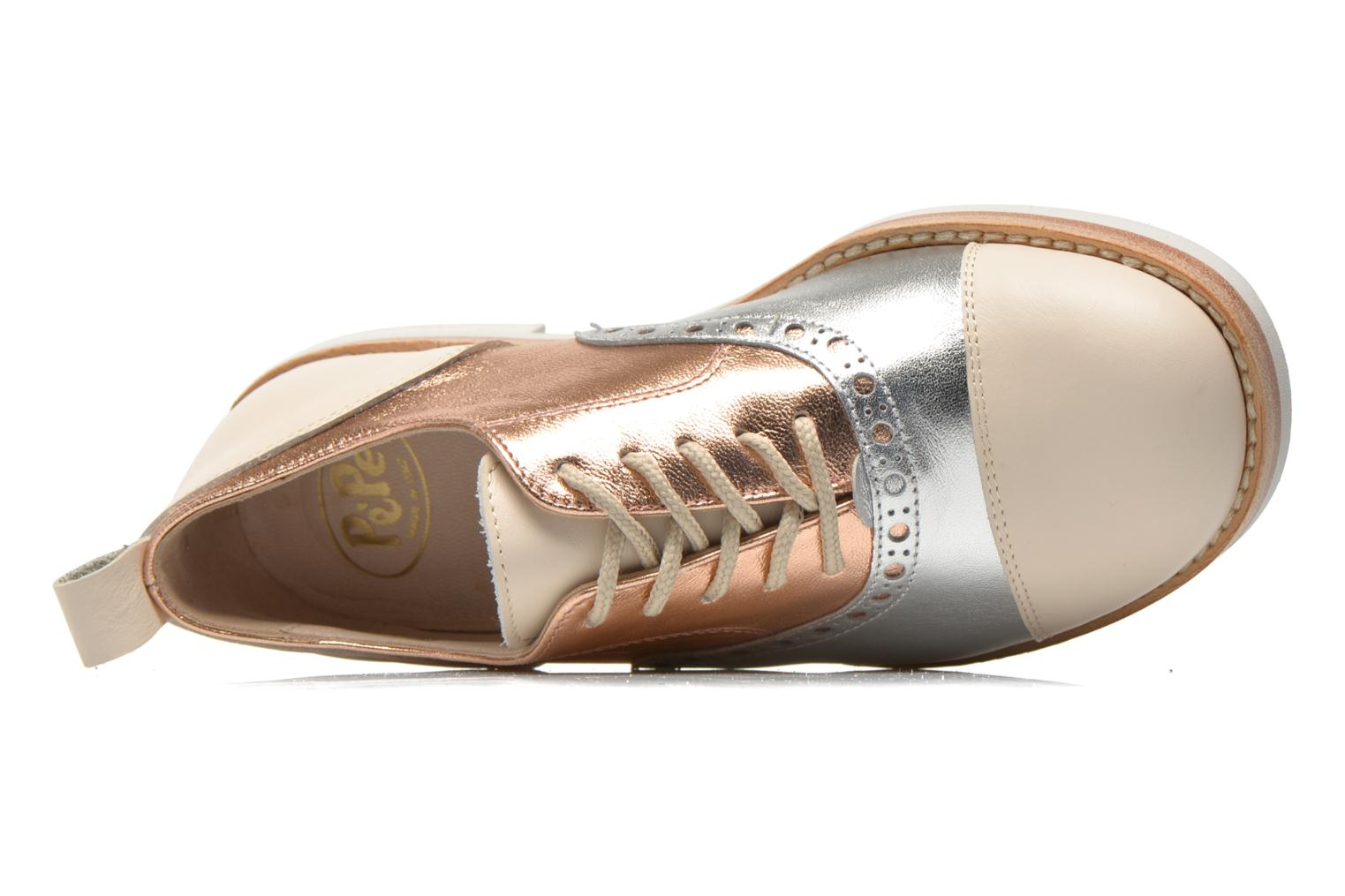Lace-up shoes PèPè Alexandra Silver view from the left