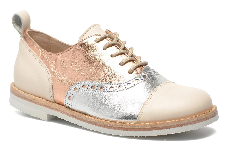 Lace-up shoes PèPè Alexandra Silver detailed view/ Pair view