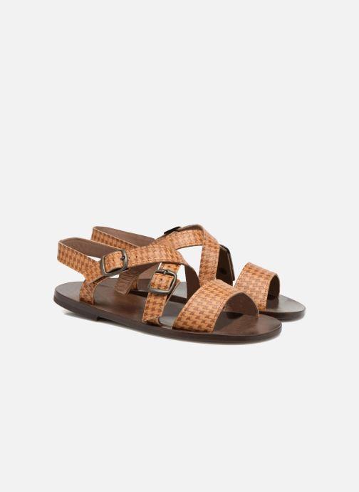 Sandales et nu-pieds PèPè Tina Marron vue 3/4