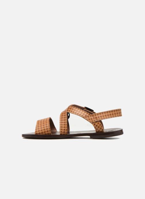Sandales et nu-pieds PèPè Tina Marron vue face