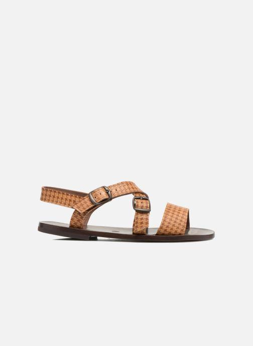 Sandales et nu-pieds PèPè Tina Marron vue derrière