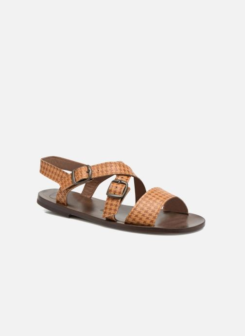 Sandales et nu-pieds PèPè Tina Marron vue détail/paire