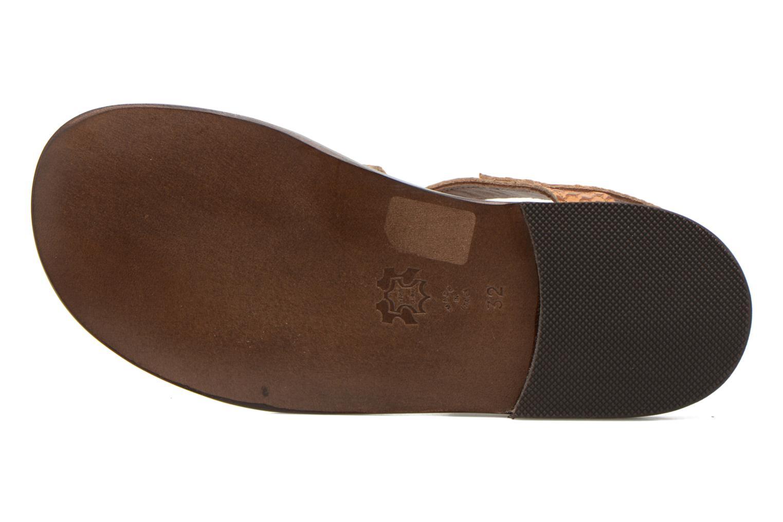 Sandales et nu-pieds PèPè Tina Marron vue haut