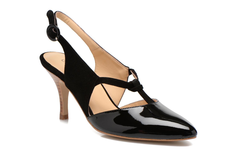 High heels Georgia Rose Riva Black detailed view/ Pair view