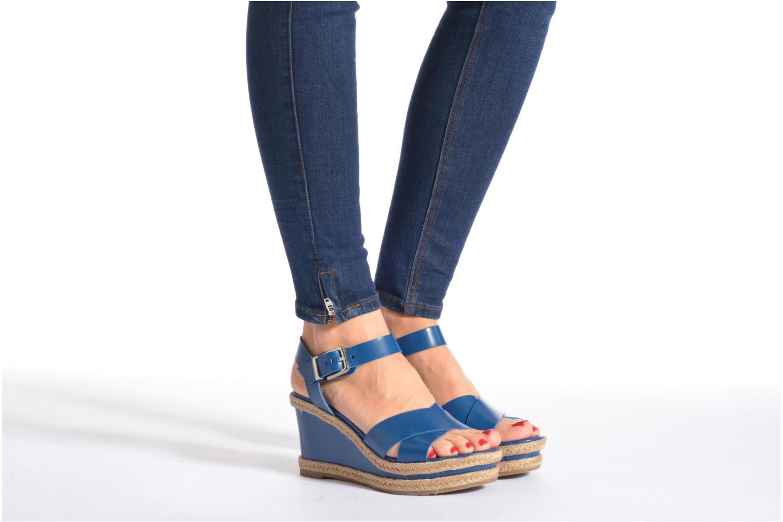 Sandales et nu-pieds Made by SARENZA Menthe Hello #20 Bleu vue bas / vue portée sac