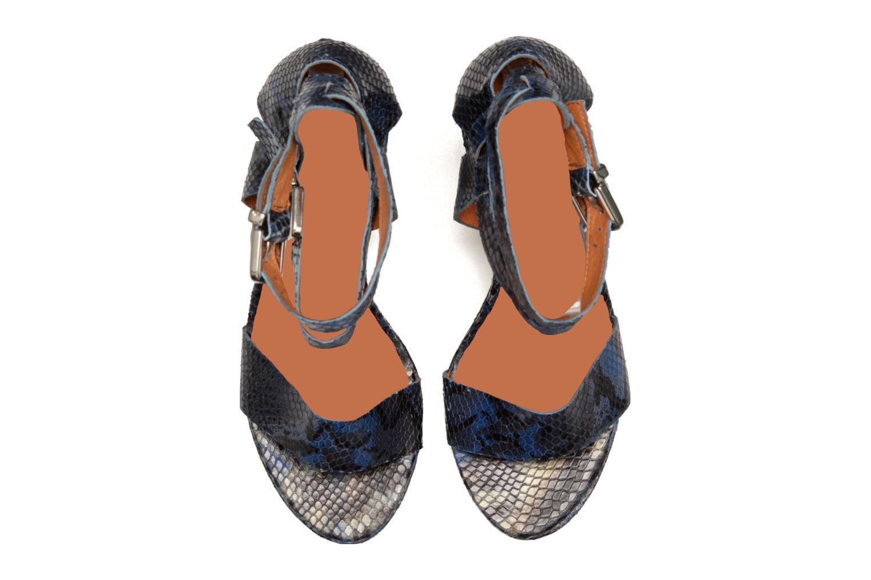 Sandalias Made by SARENZA Glossy Cindy #12 Azul vista del modelo