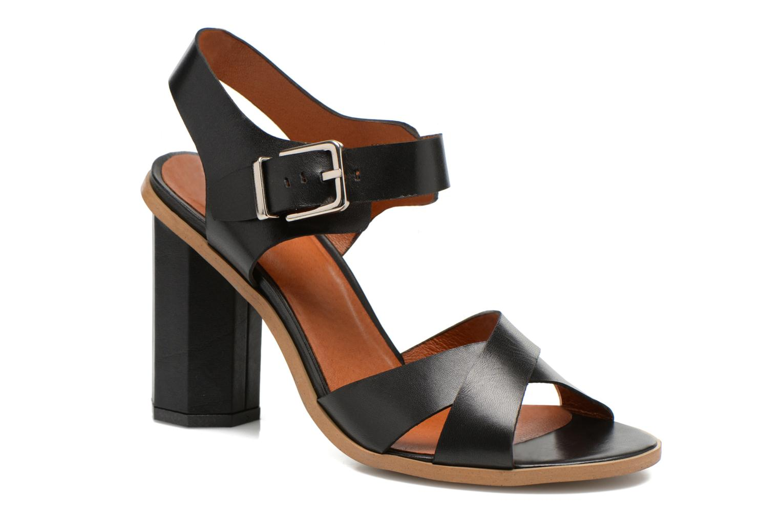 Sandals Made by SARENZA Menthe Hello #11 Black front view