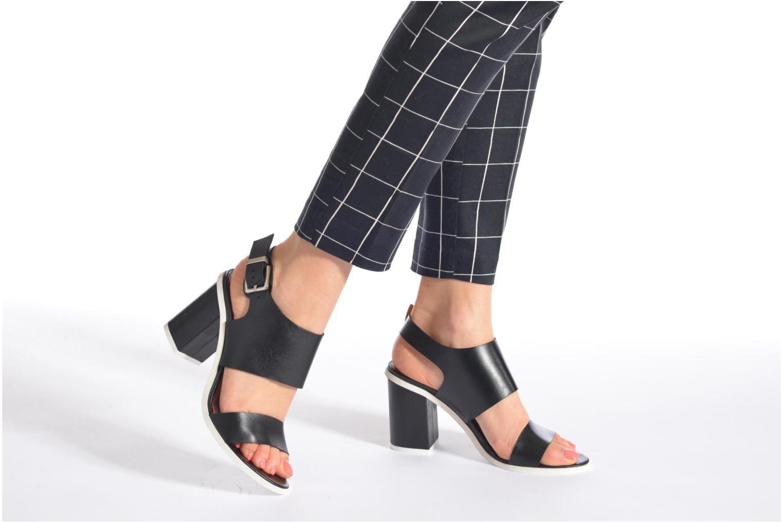 Sandales et nu-pieds Made by SARENZA Menthe Hello #14 Noir vue bas / vue portée sac