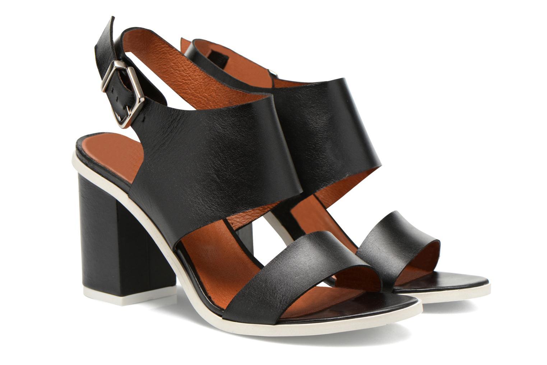 Sandales et nu-pieds Made by SARENZA Menthe Hello #14 Noir vue derrière