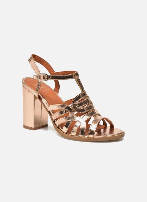 Sandales et nu-pieds Made by SARENZA Square Simone#1 Or et bronze vue face