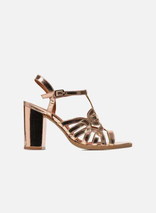 Sandales et nu-pieds Made by SARENZA Square Simone#1 Or et bronze vue détail/paire