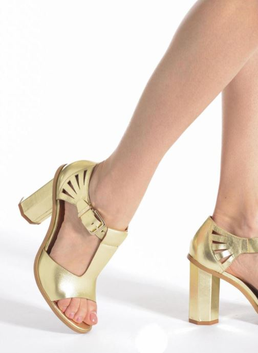 Sandalias Made by SARENZA Square Simone#3 Oro y bronce vista de abajo