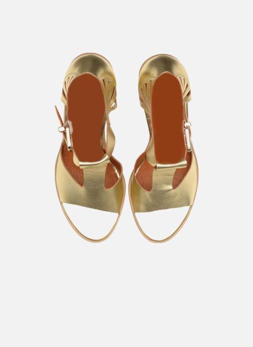 Sandalias Made by SARENZA Square Simone#3 Oro y bronce vista del modelo