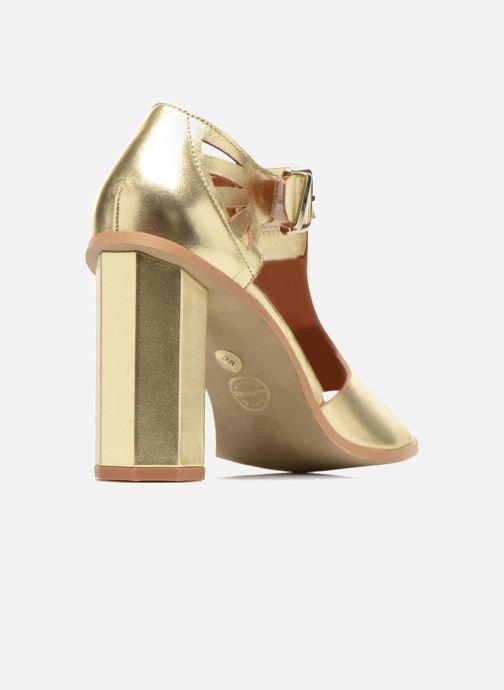 Sandalias Made by SARENZA Square Simone#3 Oro y bronce vista de frente