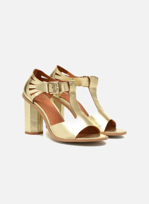 Sandalias Made by SARENZA Square Simone#3 Oro y bronce vistra trasera
