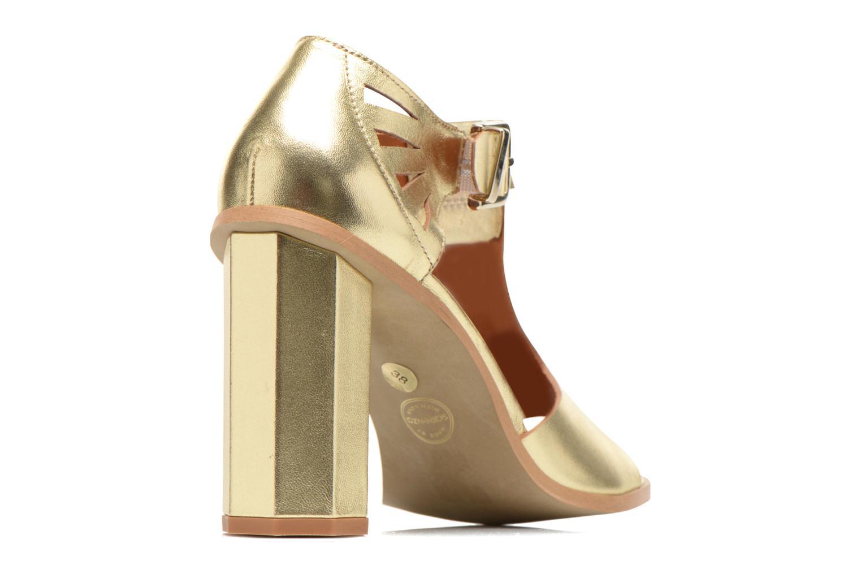 Sandales et nu-pieds Made by SARENZA Square Simone#3 Or et bronze vue face