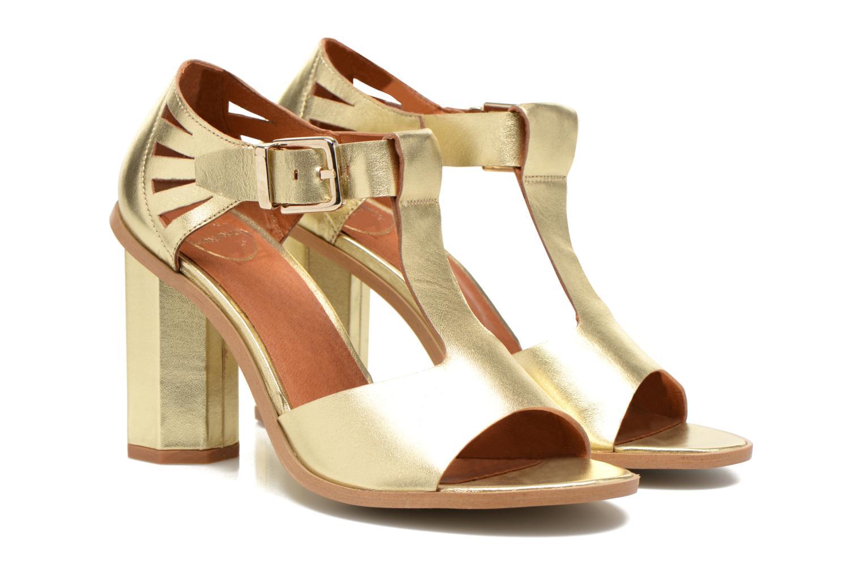 Sandalen Made by SARENZA Square Simone#3 Goud en brons achterkant