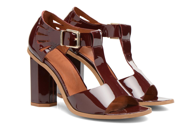 Sandales et nu-pieds Made by SARENZA Square Simone#3 Bordeaux vue derrière