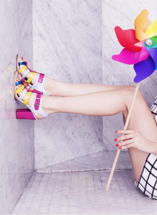 Sandales et nu-pieds Made by SARENZA Menthe Hello #16 Multicolore vue 3/4