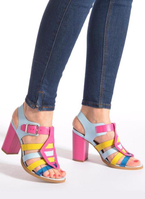 Sandales et nu-pieds Made by SARENZA Menthe Hello #16 Multicolore vue bas / vue portée sac