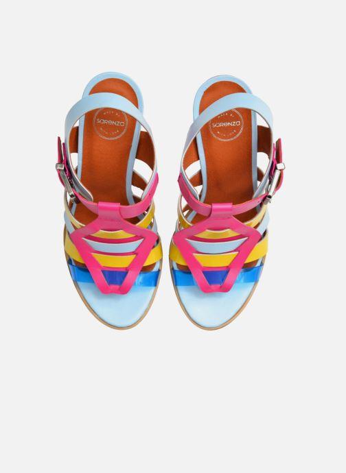 Sandales et nu-pieds Made by SARENZA Menthe Hello #16 Multicolore vue haut