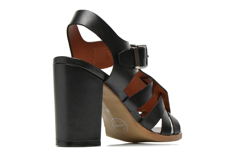 Sandali e scarpe aperte Made by SARENZA Menthe Hello #16 Nero modello indossato
