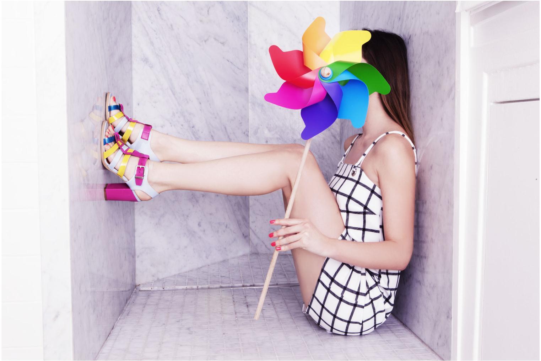 Sandali e scarpe aperte Made by SARENZA Menthe Hello #16 Multicolore immagine 3/4