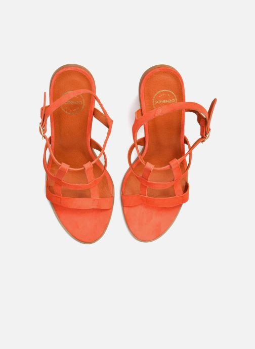 Sandales et nu-pieds Made by SARENZA Square Simone#7 Orange vue haut