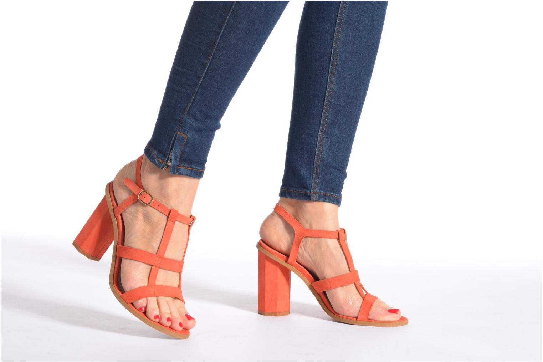 Sandales et nu-pieds Made by SARENZA Square Simone#7 Orange vue bas / vue portée sac