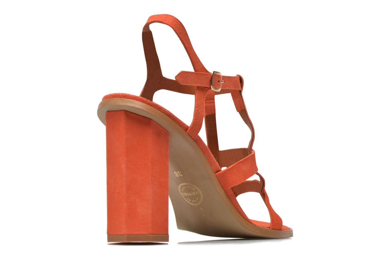 Sandales et nu-pieds Made by SARENZA Square Simone#7 Orange vue portées chaussures