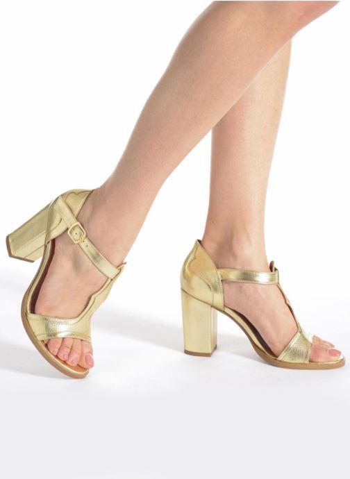 Sandalias Made by SARENZA Discow Girl #7 Oro y bronce vista de abajo
