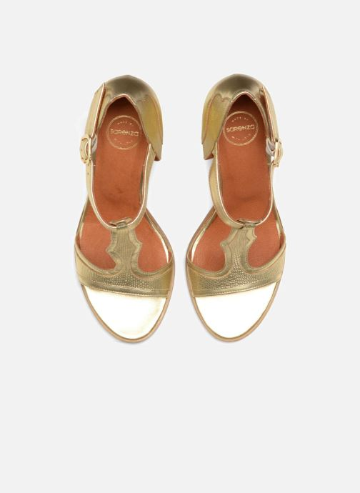 Sandalias Made by SARENZA Discow Girl #7 Oro y bronce vista del modelo