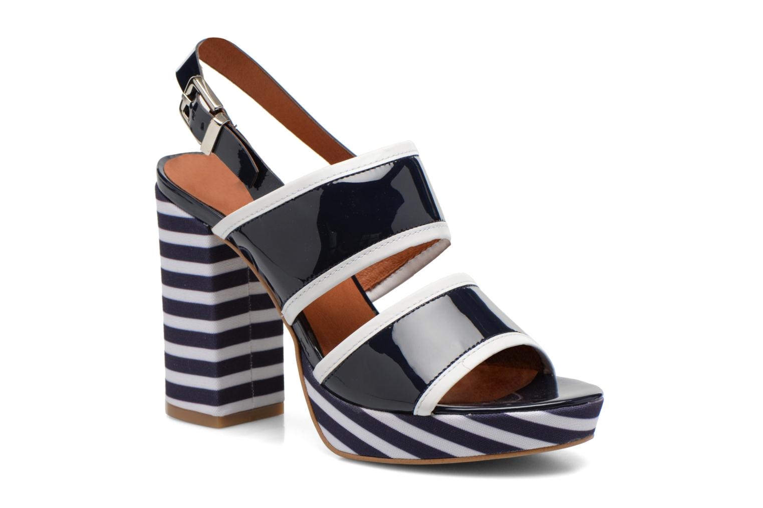 Sandals Made by SARENZA Menthe Hello #17 Blue view from the right