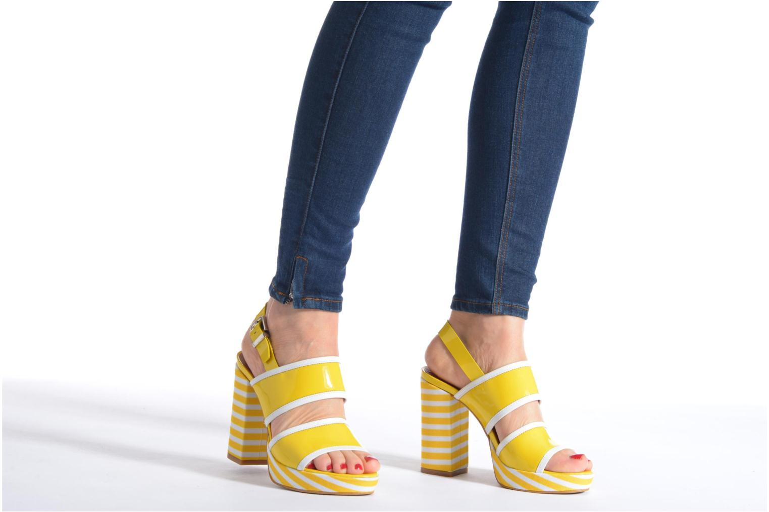 Sandals Made by SARENZA Menthe Hello #17 Yellow view from underneath / model view