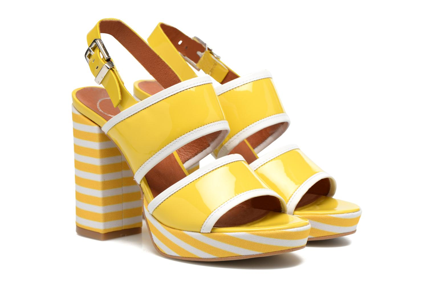 Sandals Made by SARENZA Menthe Hello #17 Yellow back view