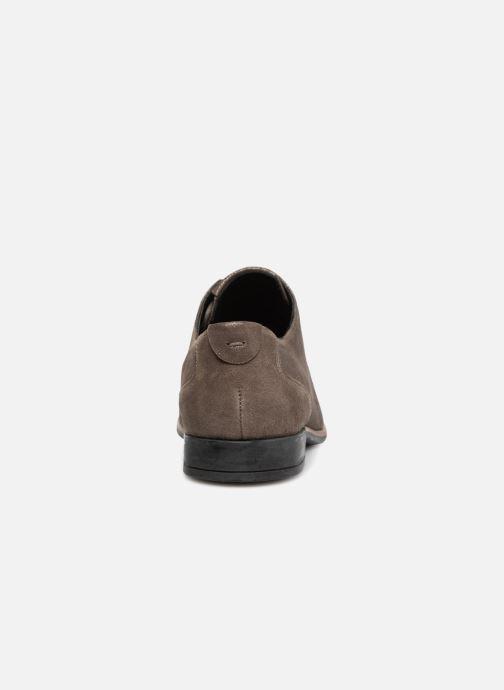 Zapatos con cordones TBS Merloz Gris vista lateral derecha