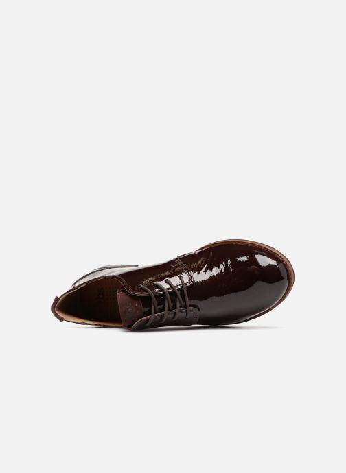 Zapatos con cordones TBS Merloz Marrón vista lateral izquierda