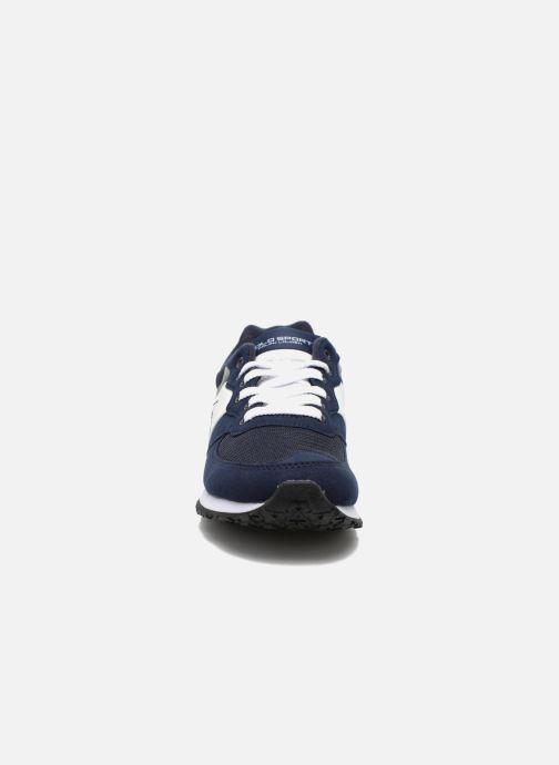 Polo Ralph Lauren Slaton Pony (Bleu) - Baskets chez Sarenza (252787) f84d8831a893