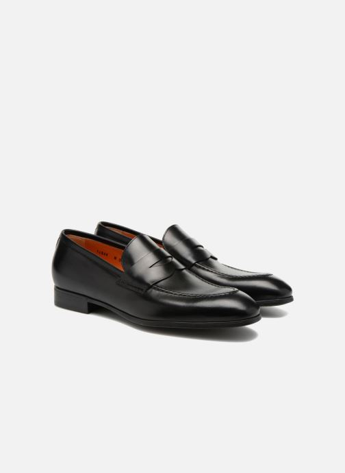 Loafers Santoni Simon 14944 Black 3/4 view