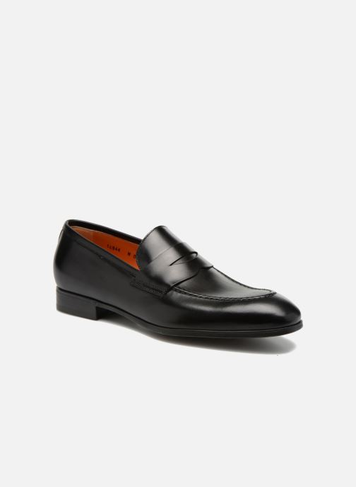 Loafers Santoni Simon 14944 Black detailed view/ Pair view