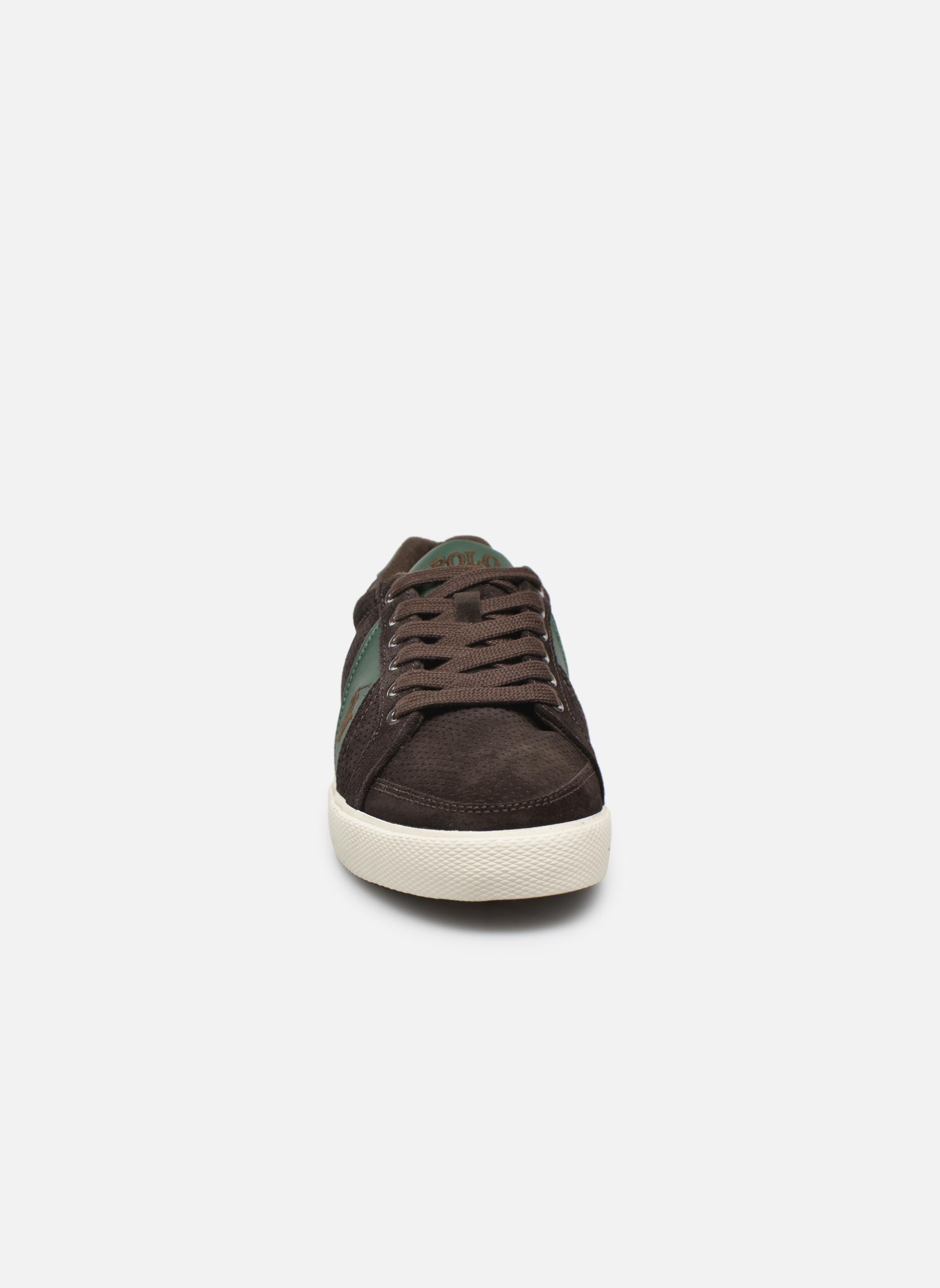 Baskets Polo Ralph Lauren Hugh Marron vue portées chaussures