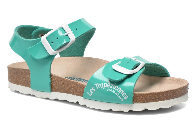 Sandales et nu-pieds Les Tropéziennes par M Belarbi Prune Vert vue détail/paire