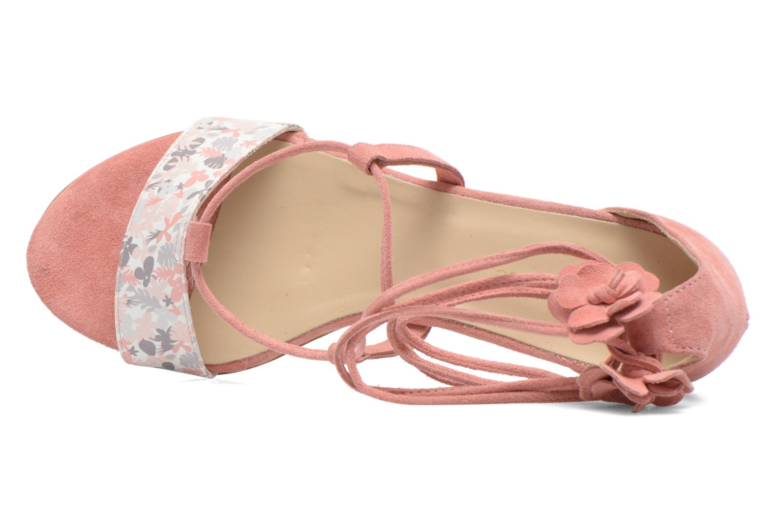 Sandalen Georgia Rose Althéa rosa ansicht von links