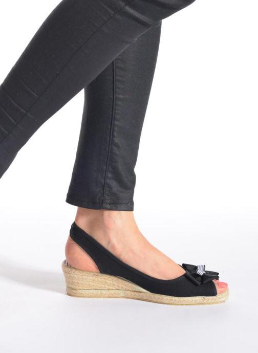 Sandales et nu-pieds Rondinaud Briance Noir vue bas / vue portée sac