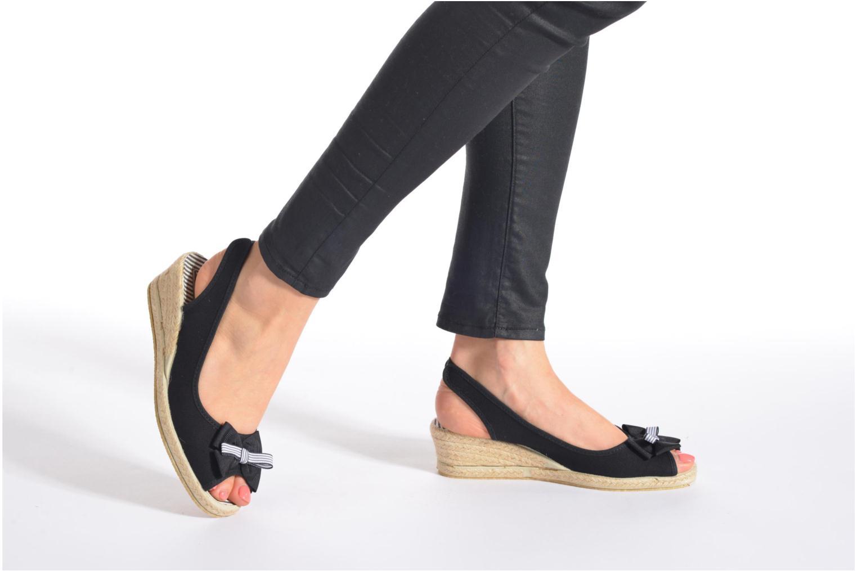 Sandalen Rondinaud Briance schwarz ansicht von unten / tasche getragen