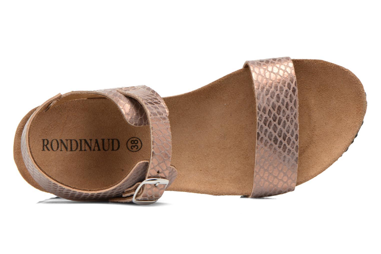 Sandalias Rondinaud Bionne Rosa vista lateral izquierda