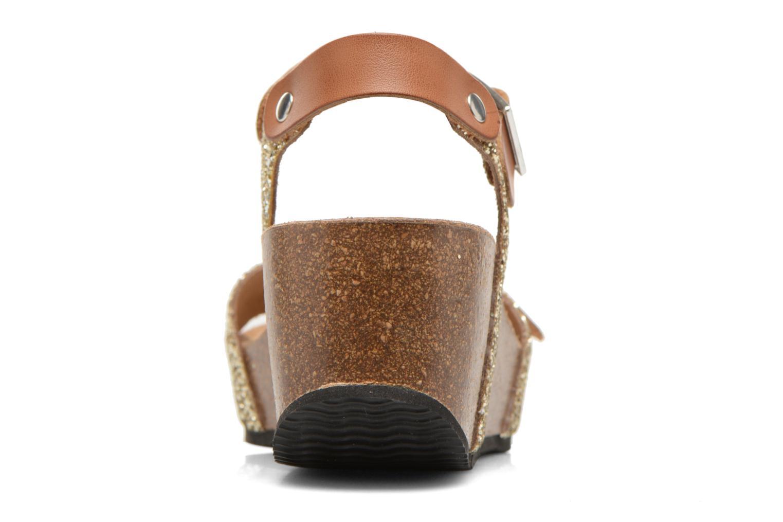 Sandales et nu-pieds Rondinaud Braye Or et bronze vue droite